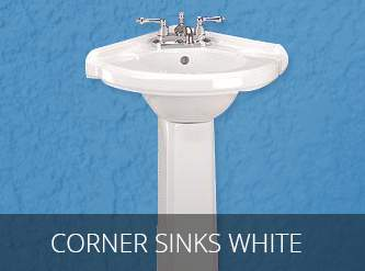 corner sinks white
