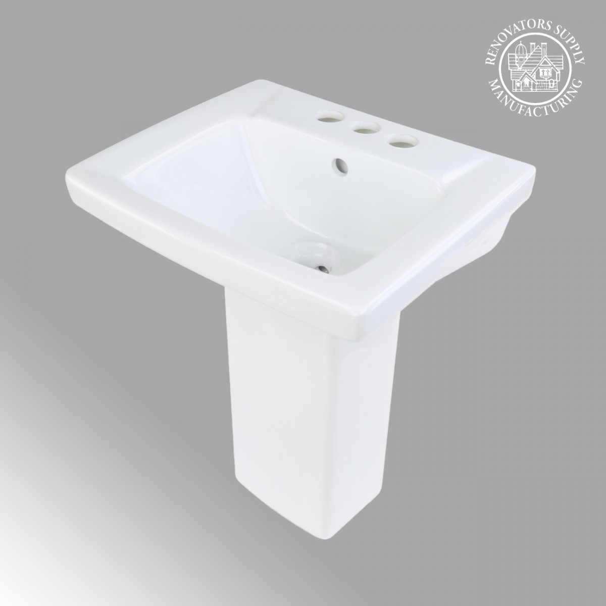 Childrens White Pedestal Sink Grade A Vitreous China