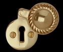 Escutcheon Brass Brass Keyhole Cover Escutcheon Brass 1 3/4 H