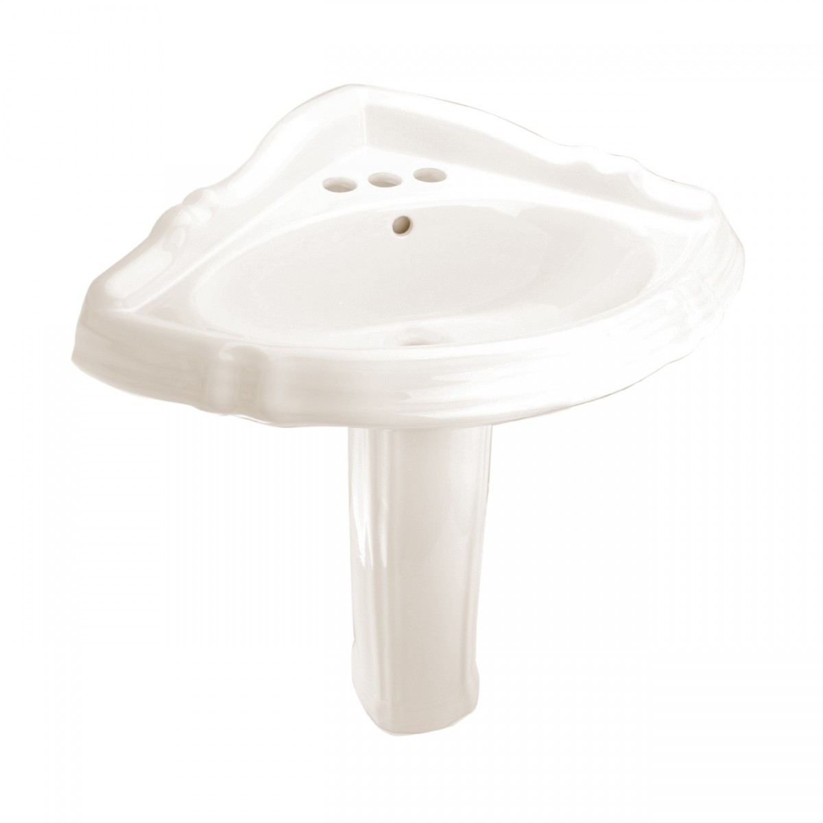 Corner Basin With Pedestal : Bathroom Corner Pedestal Sink Sheffield Bone Vitreous China
