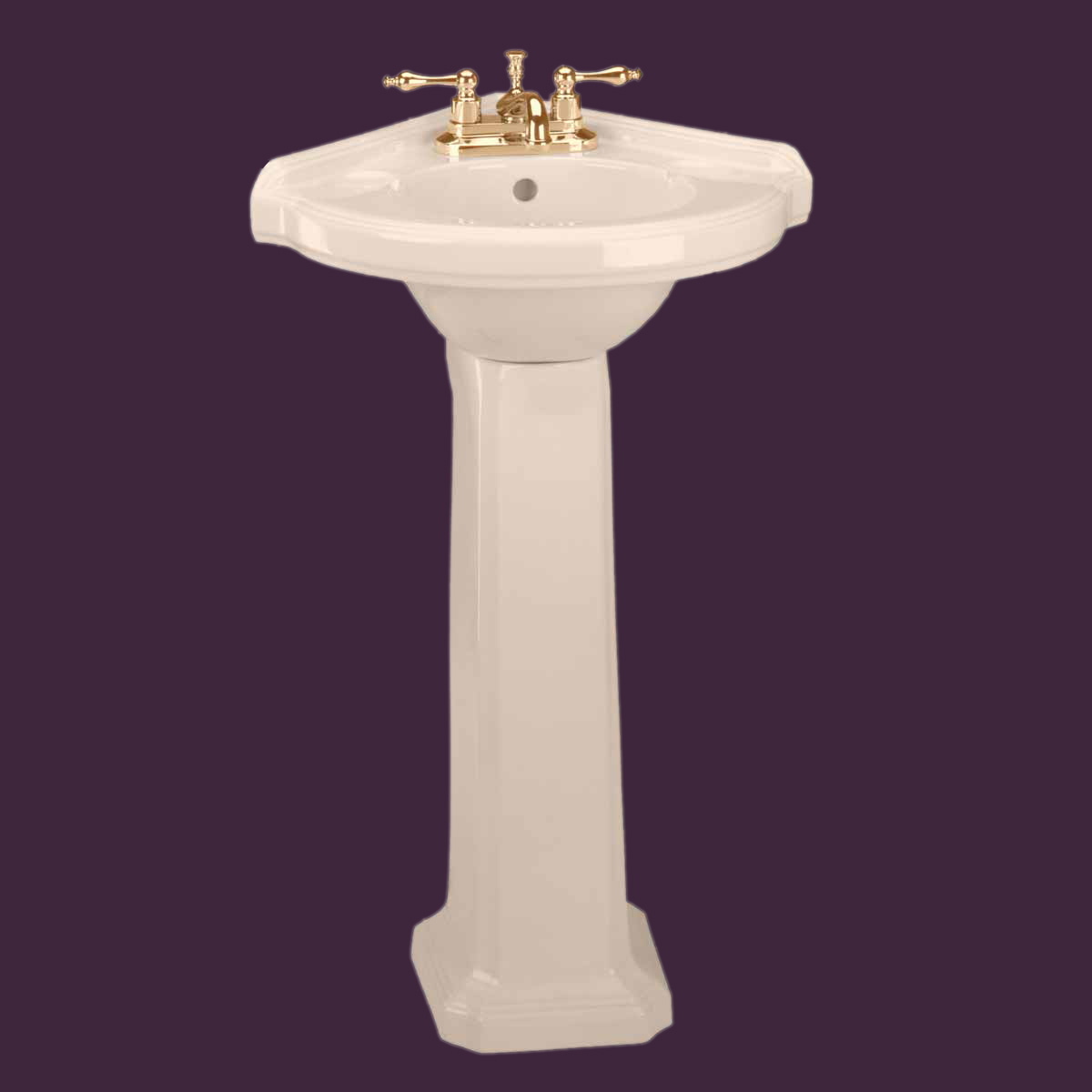 Corner Basin With Pedestal : Choose a Color