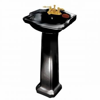 Pedestal Sink With Counter Space : Bathroom Pedestal Sink Black China Space-saving 19
