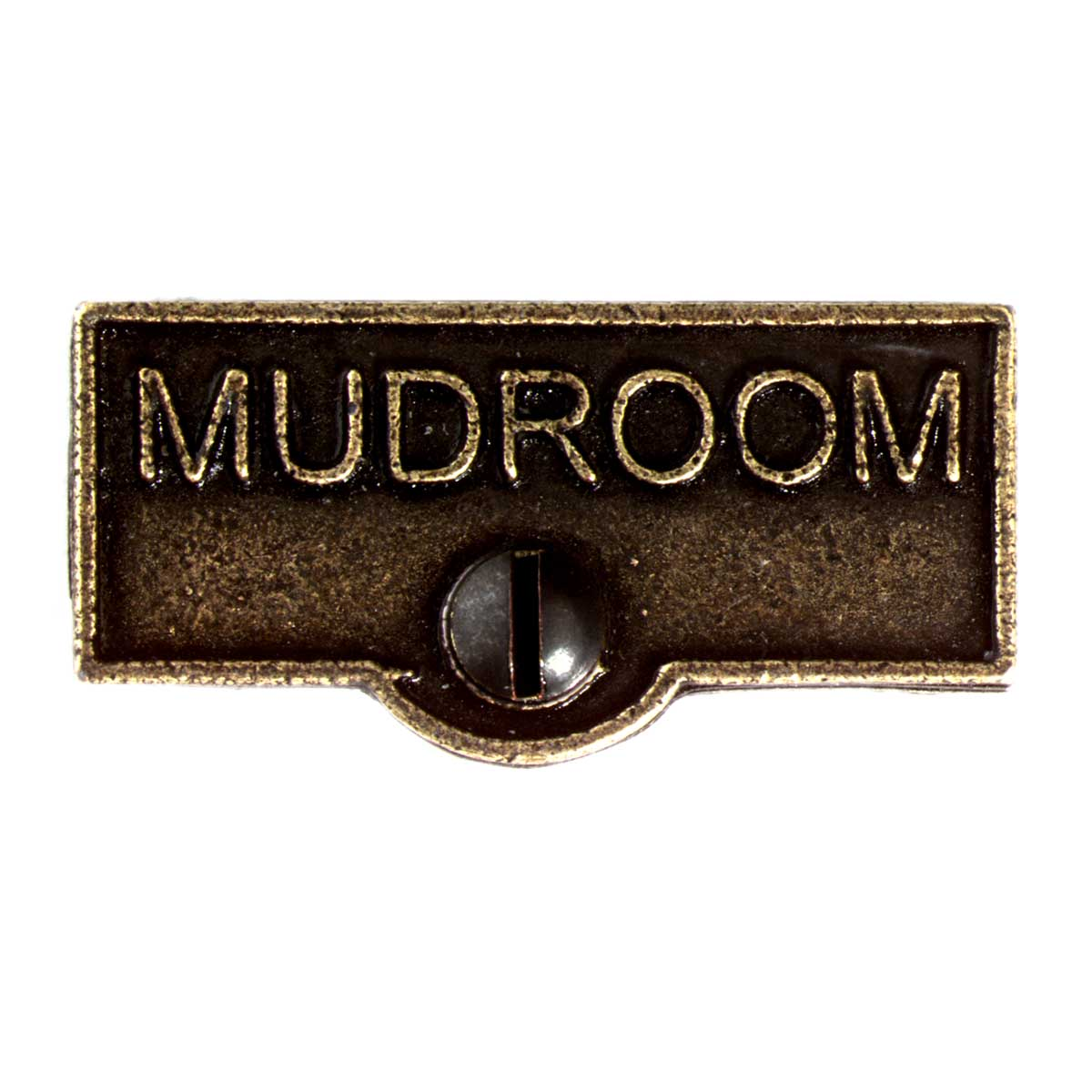 Switch Plate Tags MUDROOM Name Signs Labels Cast Brass