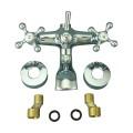 Cross Handle Chrome Brass Faucets Bath Cross Handle Tub Faucet Part ON