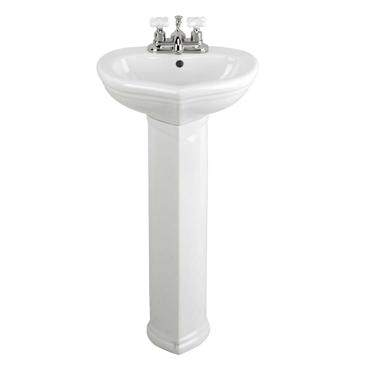 Small Pedestal Basin : Small Pedestal Sink White Bathroom China Sweet Heart