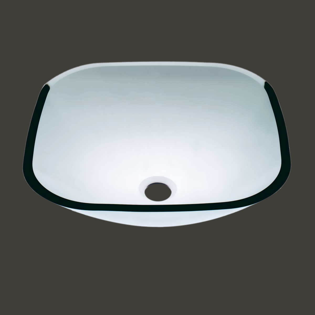 Square Glass Vessel Sink : Clear Glass Vessel Sink Bathroom Serena Square