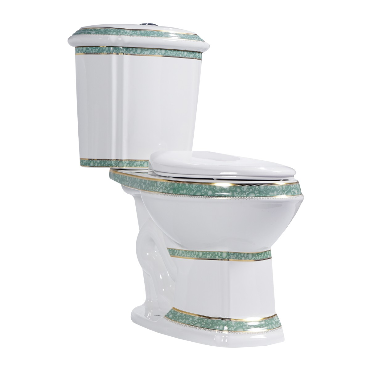 WhiteGreen Dual Flush Elongated Toilet The Renovators