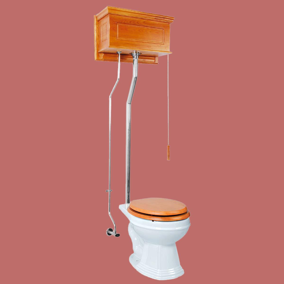 High Tank Pull Chain Toilet Round Light Oak Raised Chrome : 13027 from www.rensup.com size 1200 x 1200 jpeg 130kB