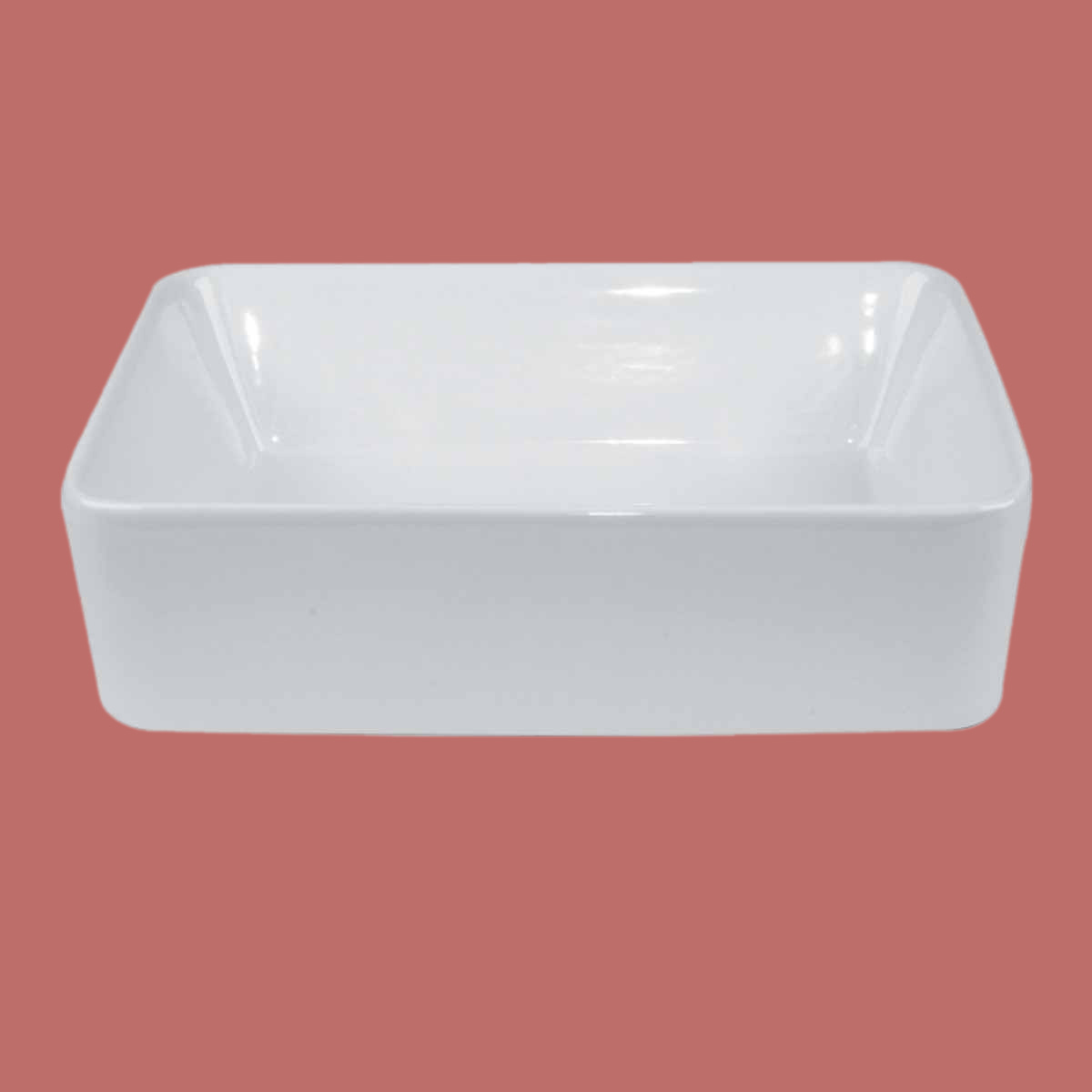 Above Counter Vessel Bathroom Rectangle Sink White China