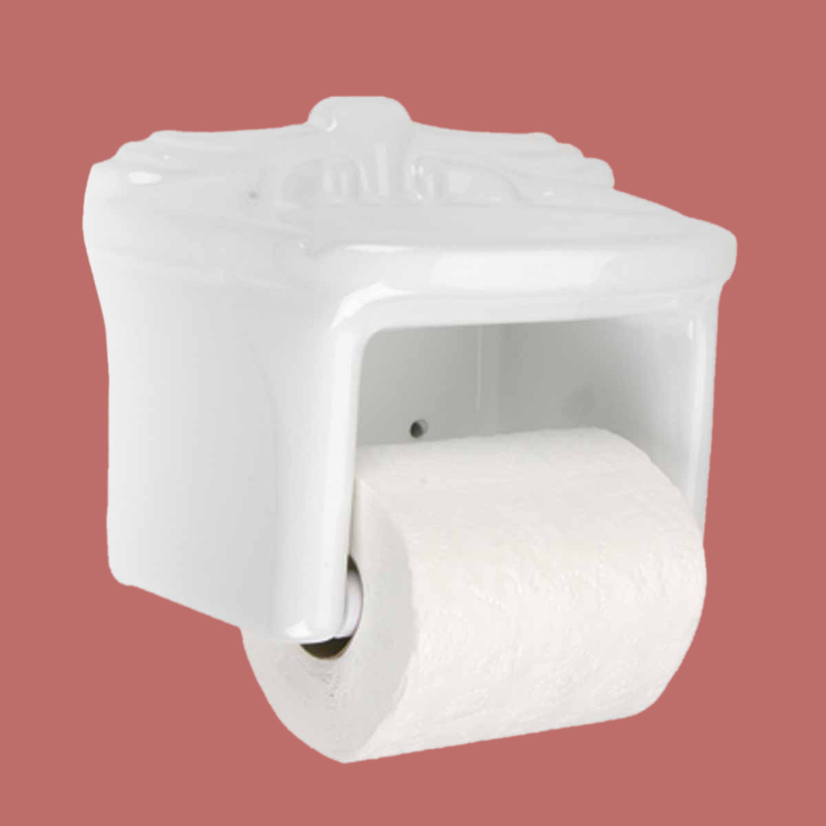 toilet tissue paper holder white ceramic porcelain