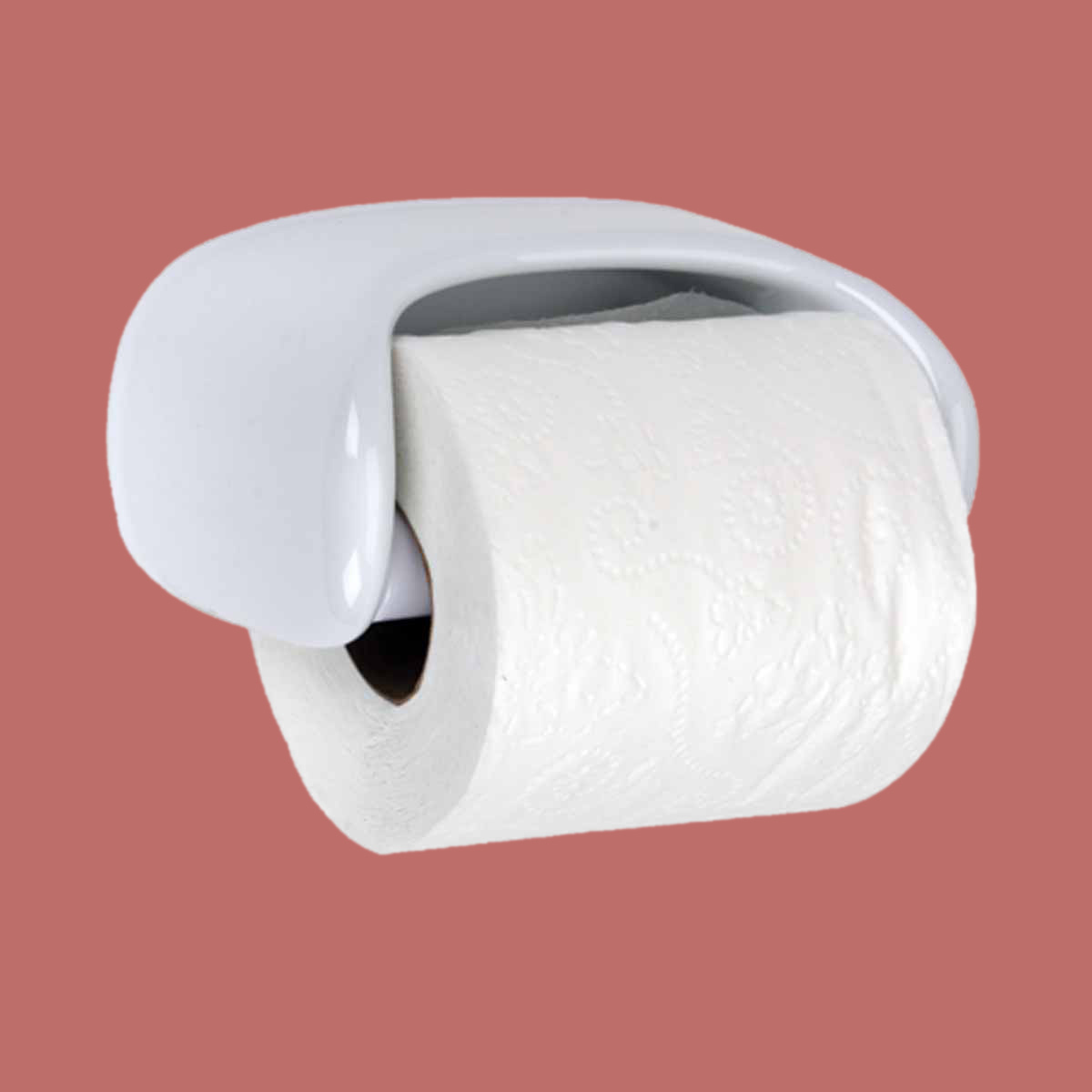 toilet paper holder white ceramic porcelain tissue holder
