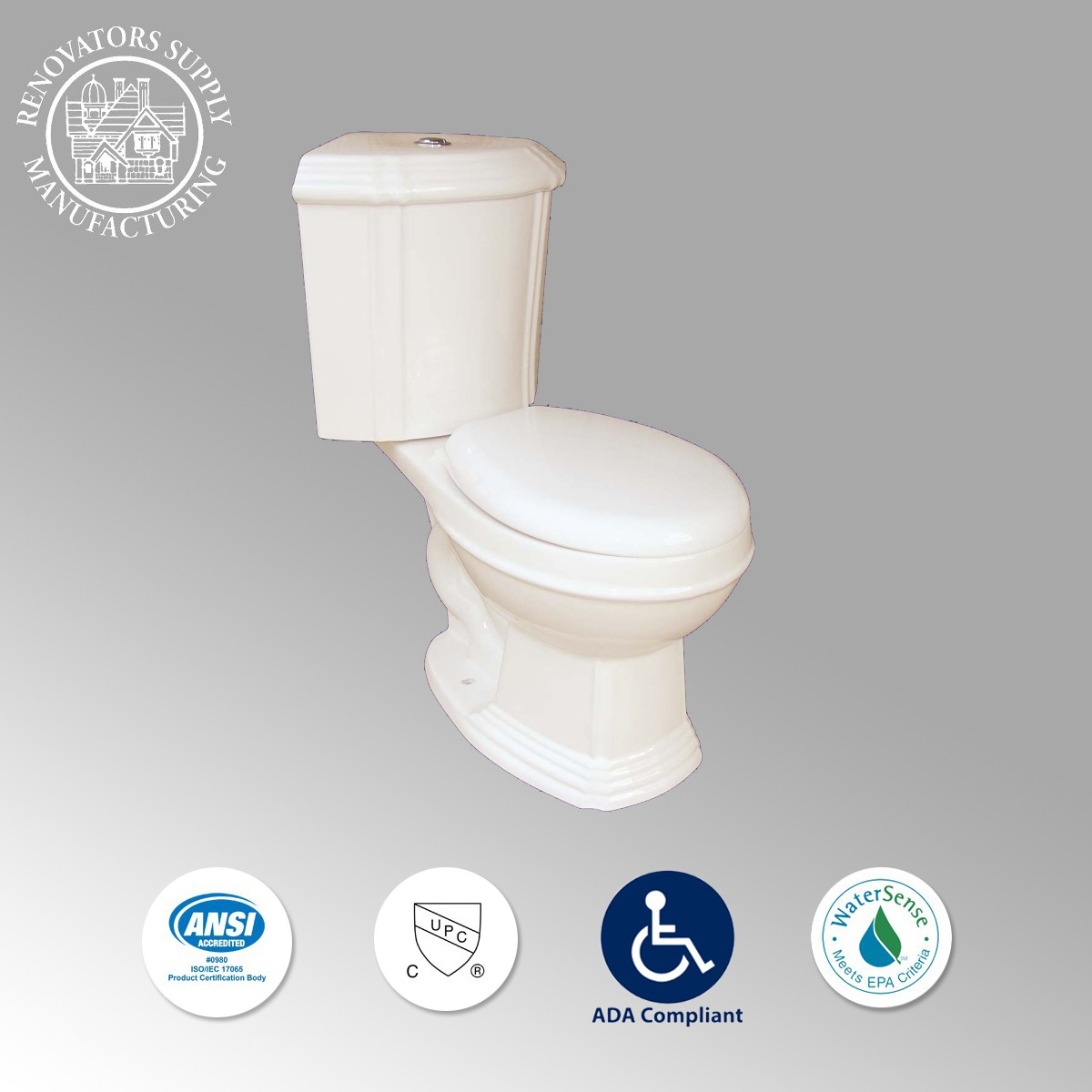 Dual Flush Round Bone Corner Toilet Sheffield The