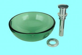 Mini Vessel Sink : Vessel Sinks: Mini Glass Vessel Sink Piccolo Green Round - Vessel ...