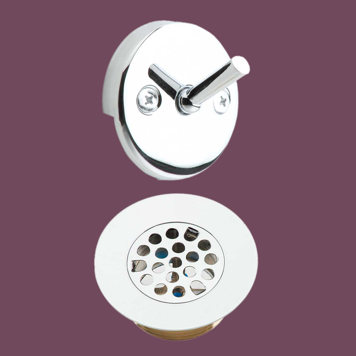 Tub Replacement Parts : Tub drain and trip lever overflow plate replacement parts