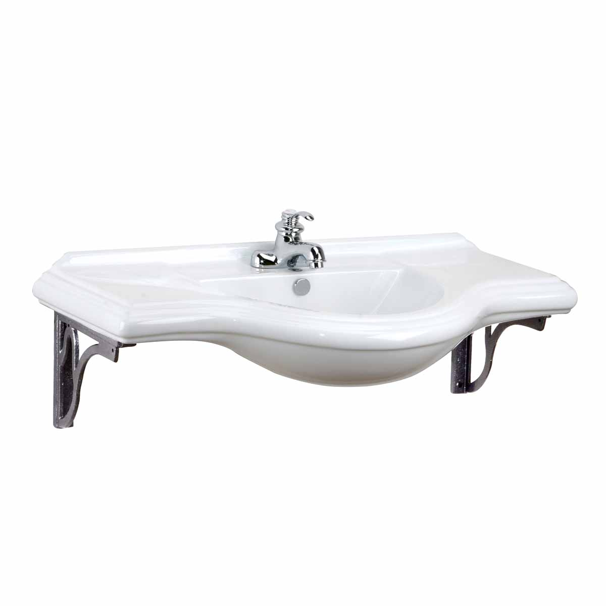 Large Deluxe Wall Mount Console Sink 4