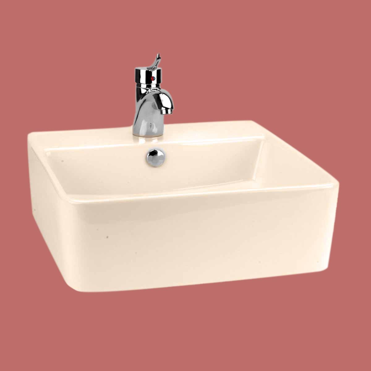 Square Bathroom Sinks : Bathroom Vessel Sink Square London Bone China