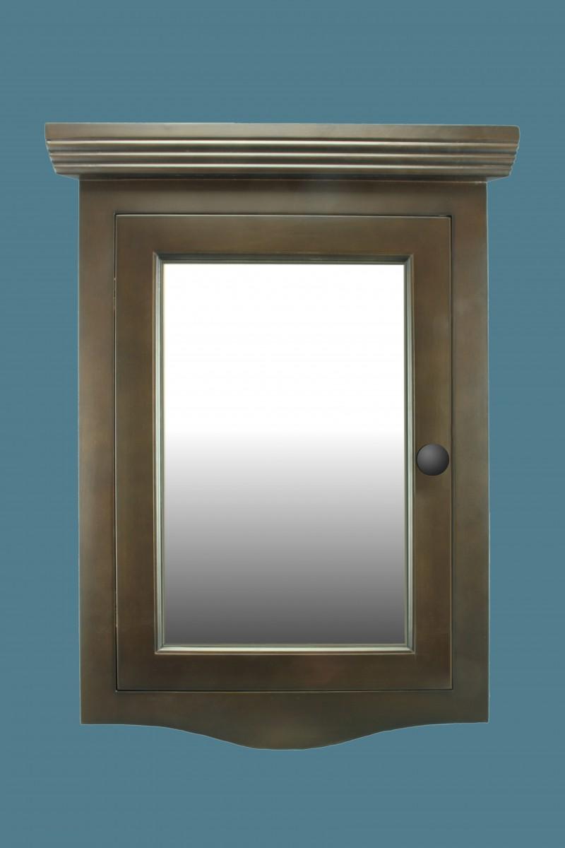 solid wood corner medicine cabinet mirror door dark oak