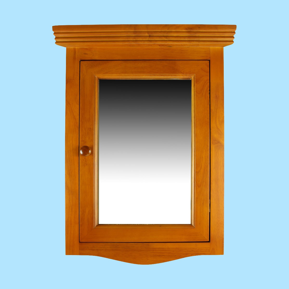 solid wood corner medicine cabinet mirror door golden oak