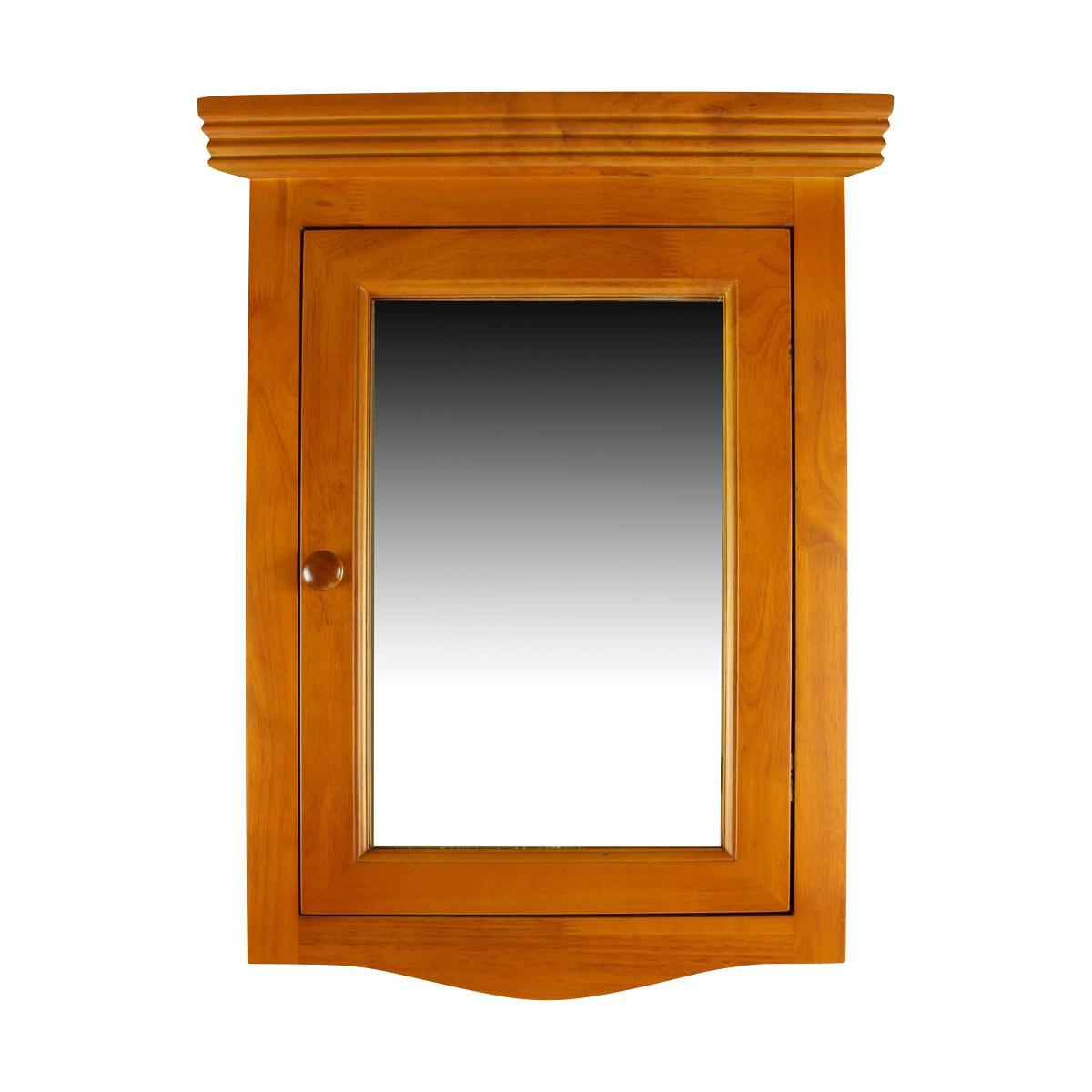solid wood corner medicine cabinet mirror door golden oak