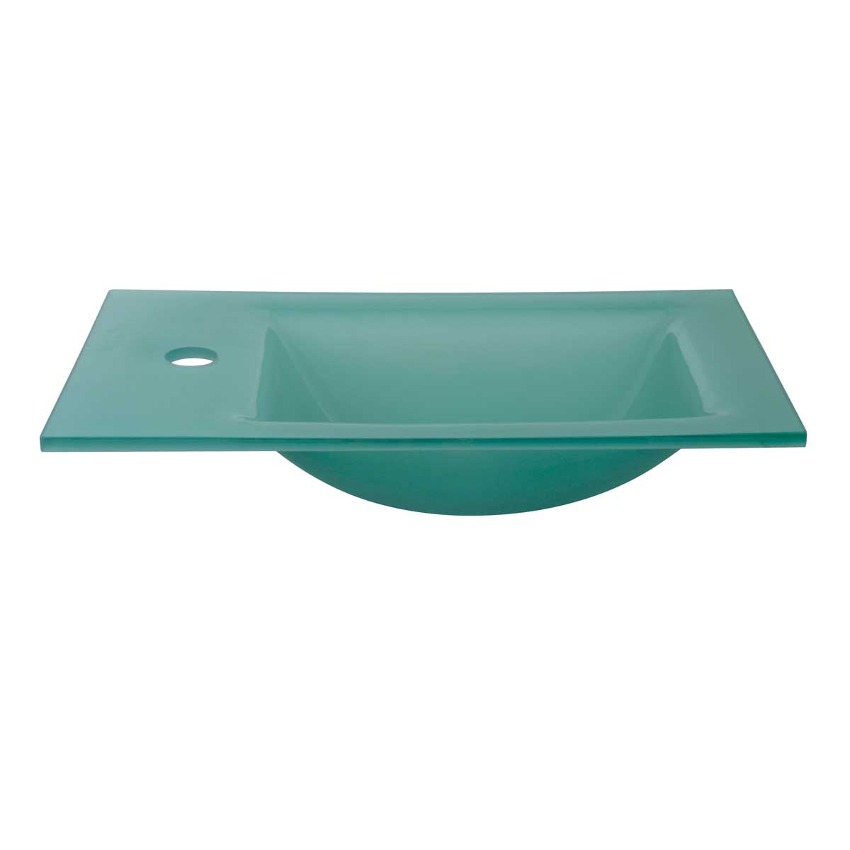 Top Of Counter Sink : Mini Glass Counter Top Wall Mount Sink Kids Bathroom