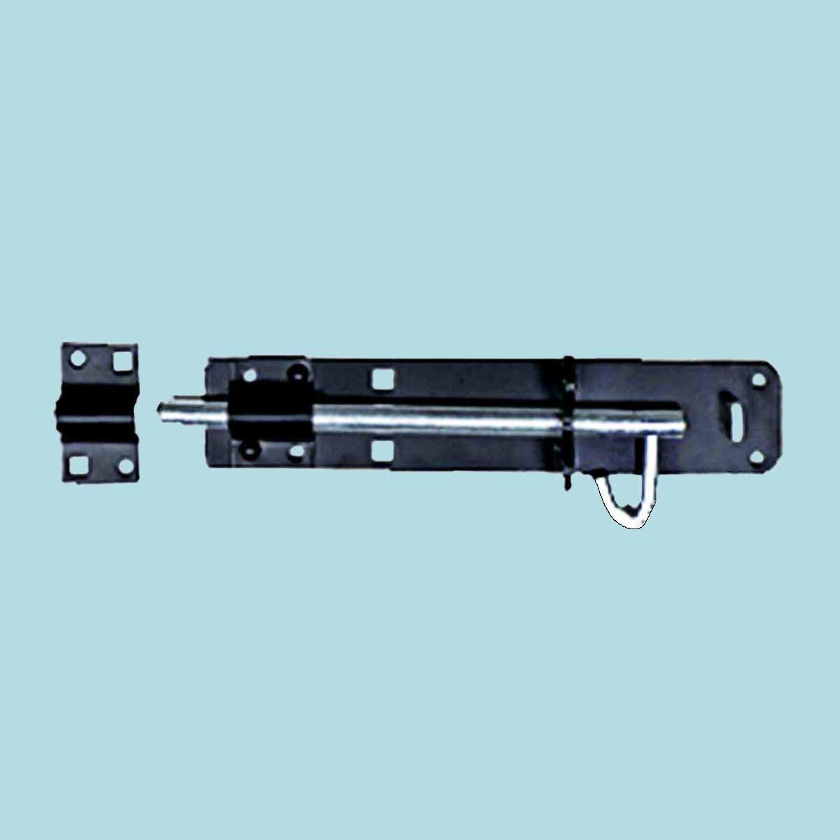 "Black Wrought Iron Slide Door Brenton Bolt 4"""