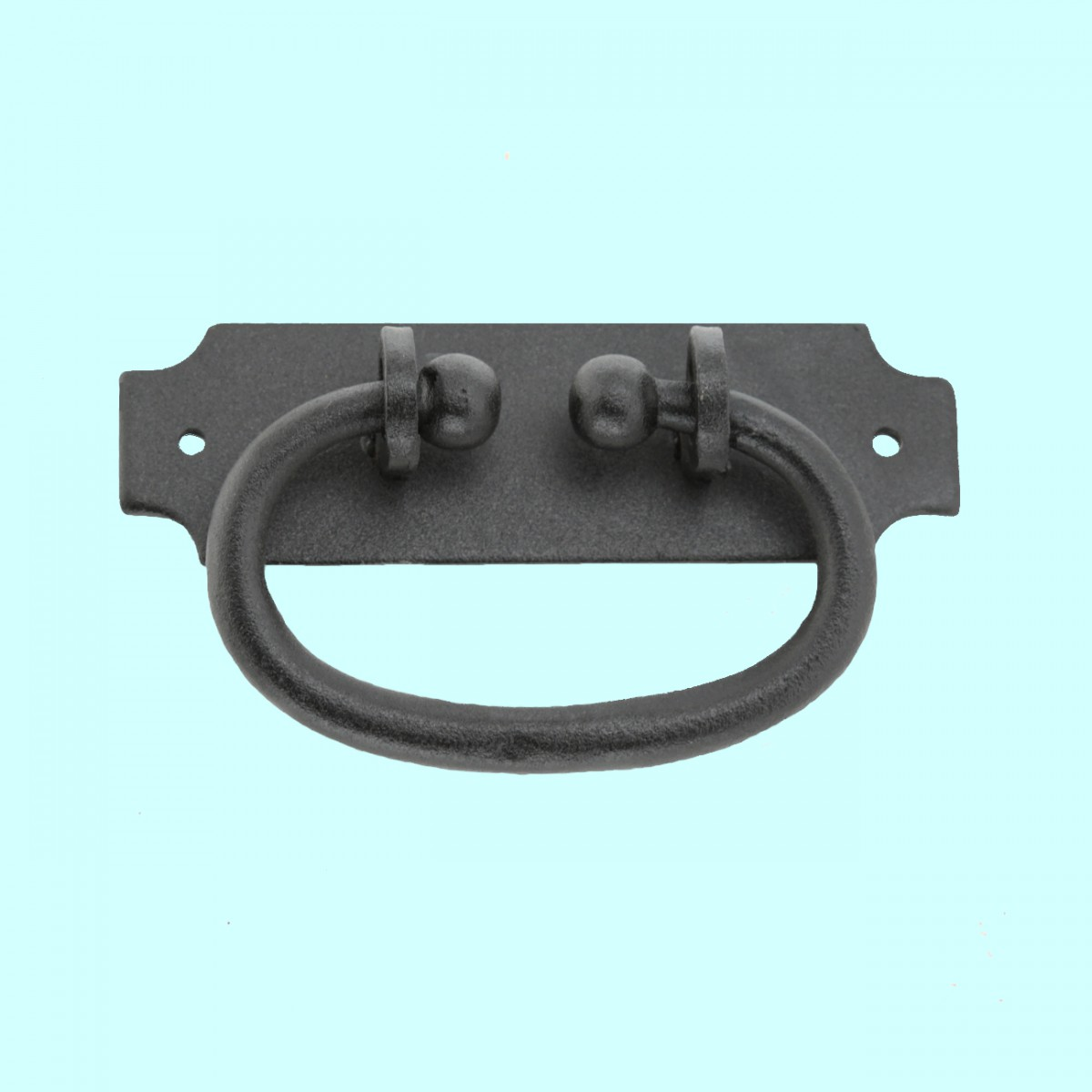 cabinet or drawer pull black wrought iron 5 1 4 x 1 9 16