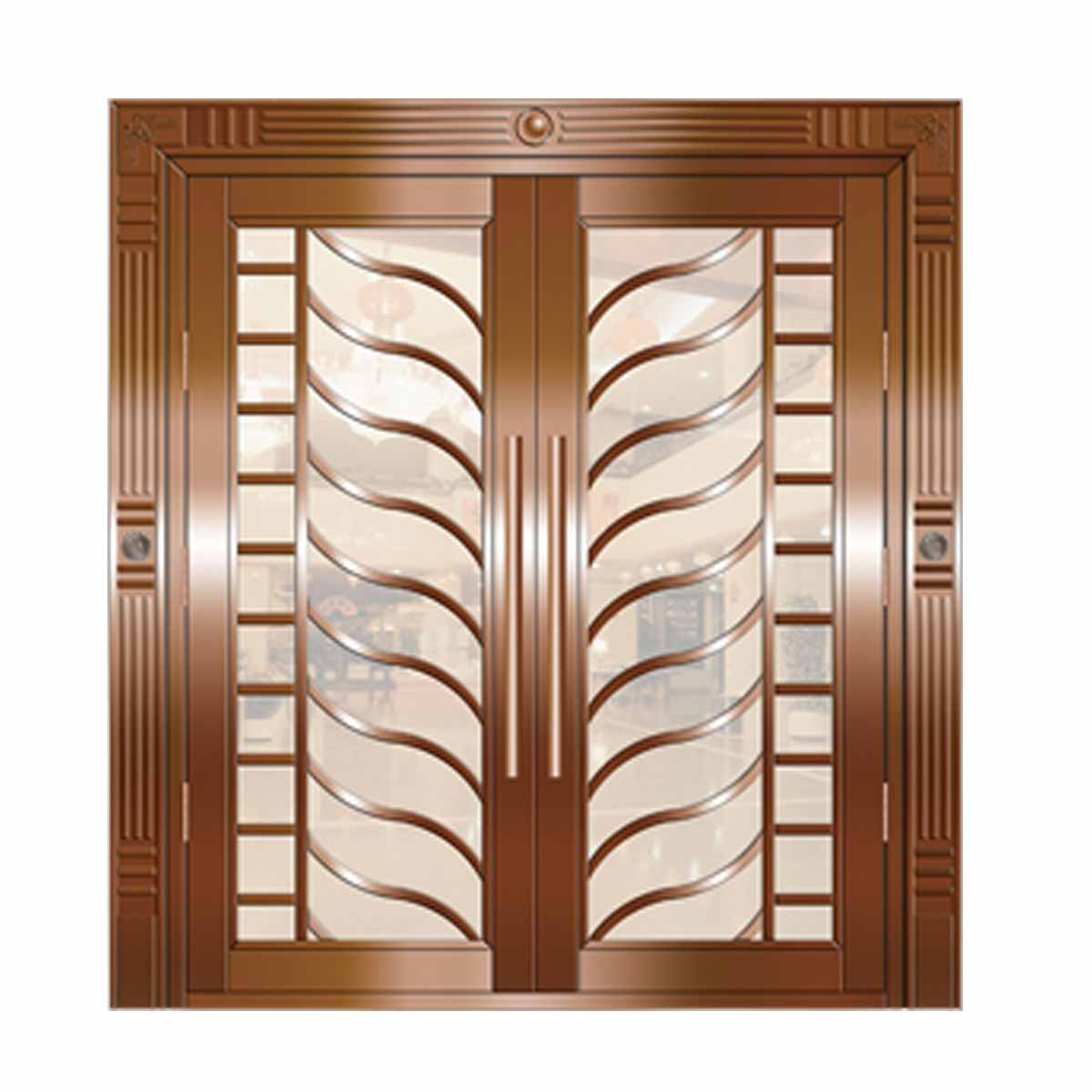 1200 #4B2713 Double Door Security Steel Door Exterior Doorzy Sd008 Steel Double  wallpaper Steel Double Doors Exterior 42151200