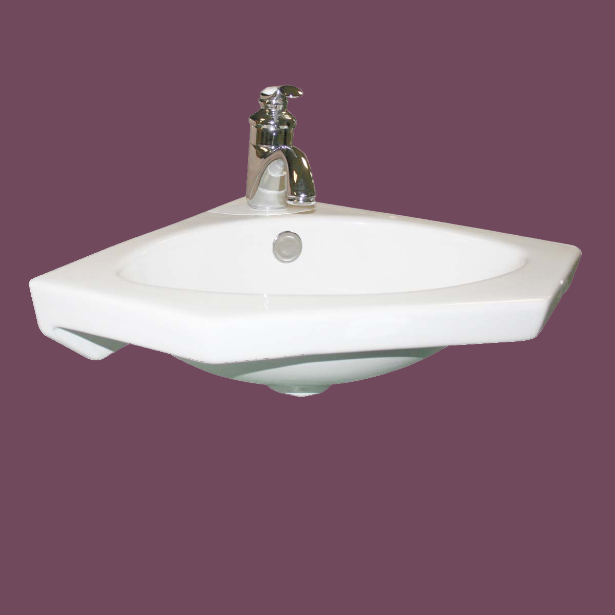 Corner Small Sink : Bathroom Small Corner Sink Basin White Porcelain Wall Mount