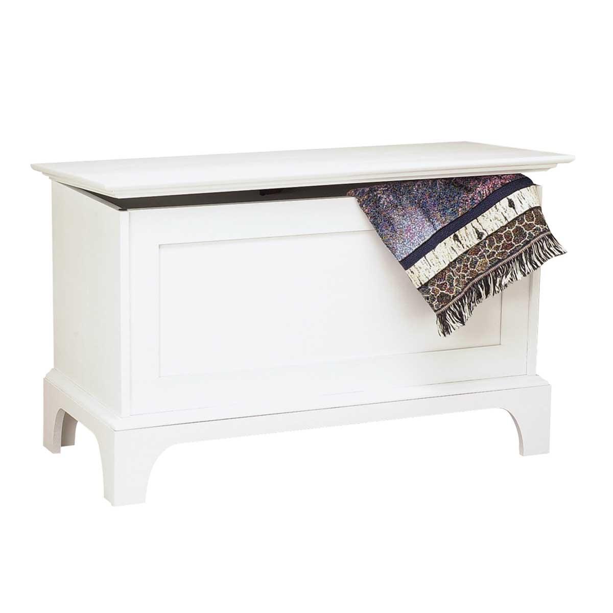 Bench White Pine Shaker Blanket Chest
