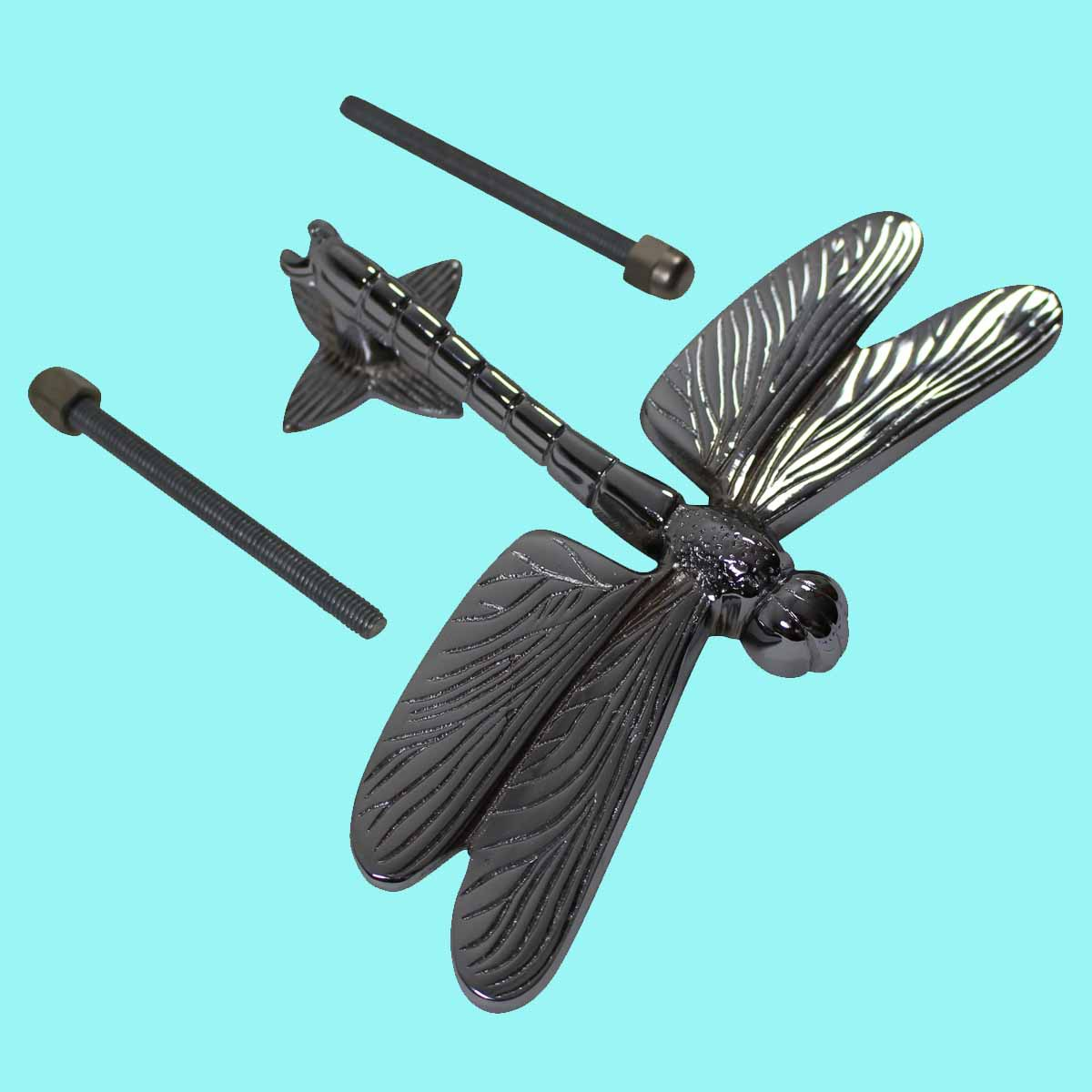 Chrome solid brass vintage door knocker dragonfly - Dragonfly door knocker ...