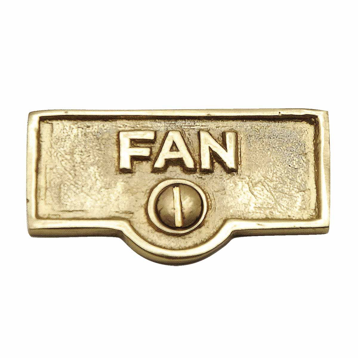 Switch Plate Tags FAN Name Signs Labels Lacquered Brass