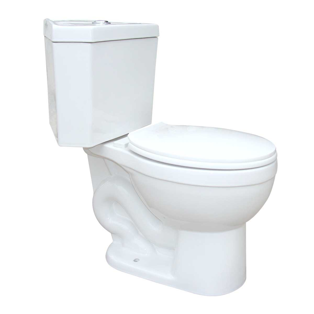 Corner Toilet Round Dual Flush Seat Included White