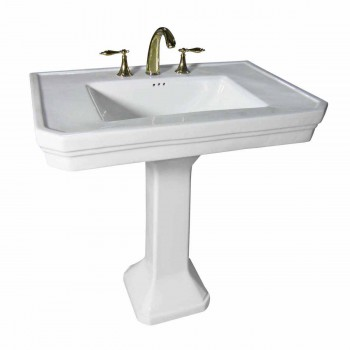 bathroom pedestal sink white vitreous china 8 39 39 widespread