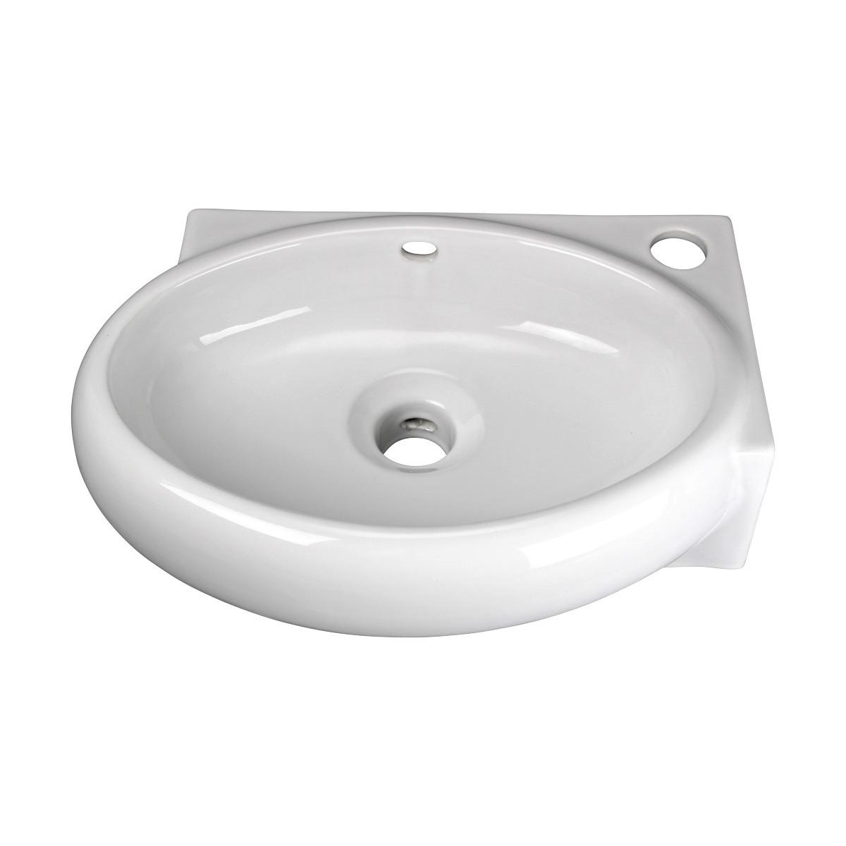 Corner wall mount bathroom sink above counter vessel white - Corner sinks for bathroom ...