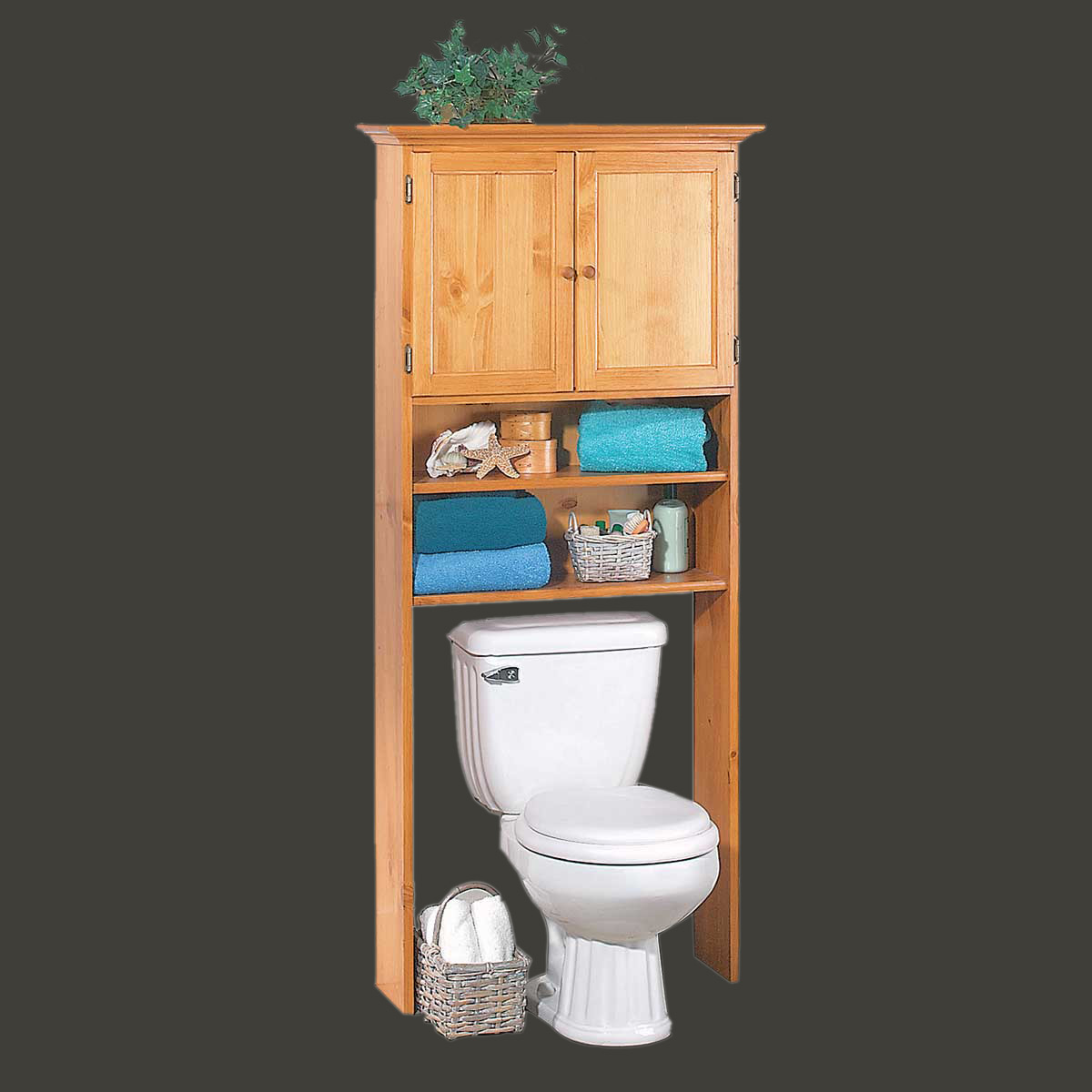 Over Toilet Shelf Storage Bathroom Heirloom Pine