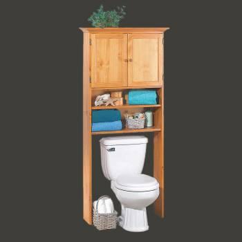 Over Toilet Shelf Storage Bathroom Heirloom Pine