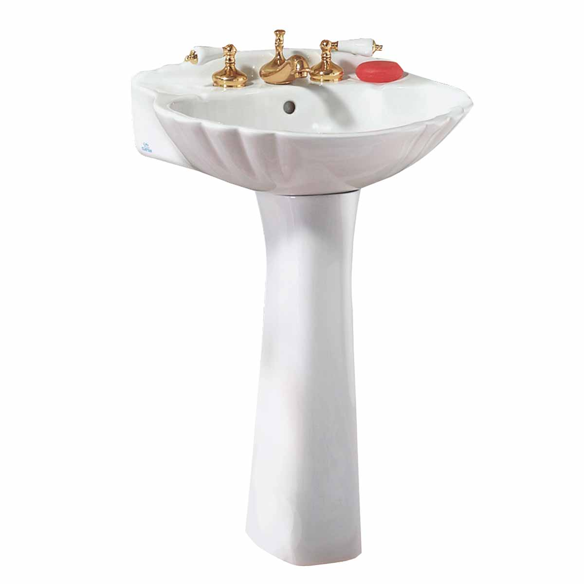 Shell Bathroom Sink : Bathroom Pedestal Sink White China Shell 8