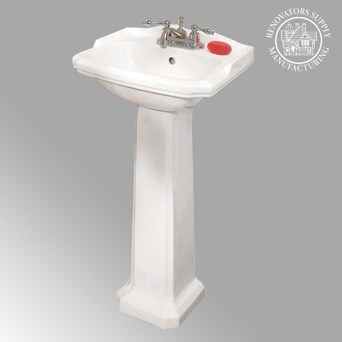Pedestal Sink White Bathroom China Cloakroom Space-saver