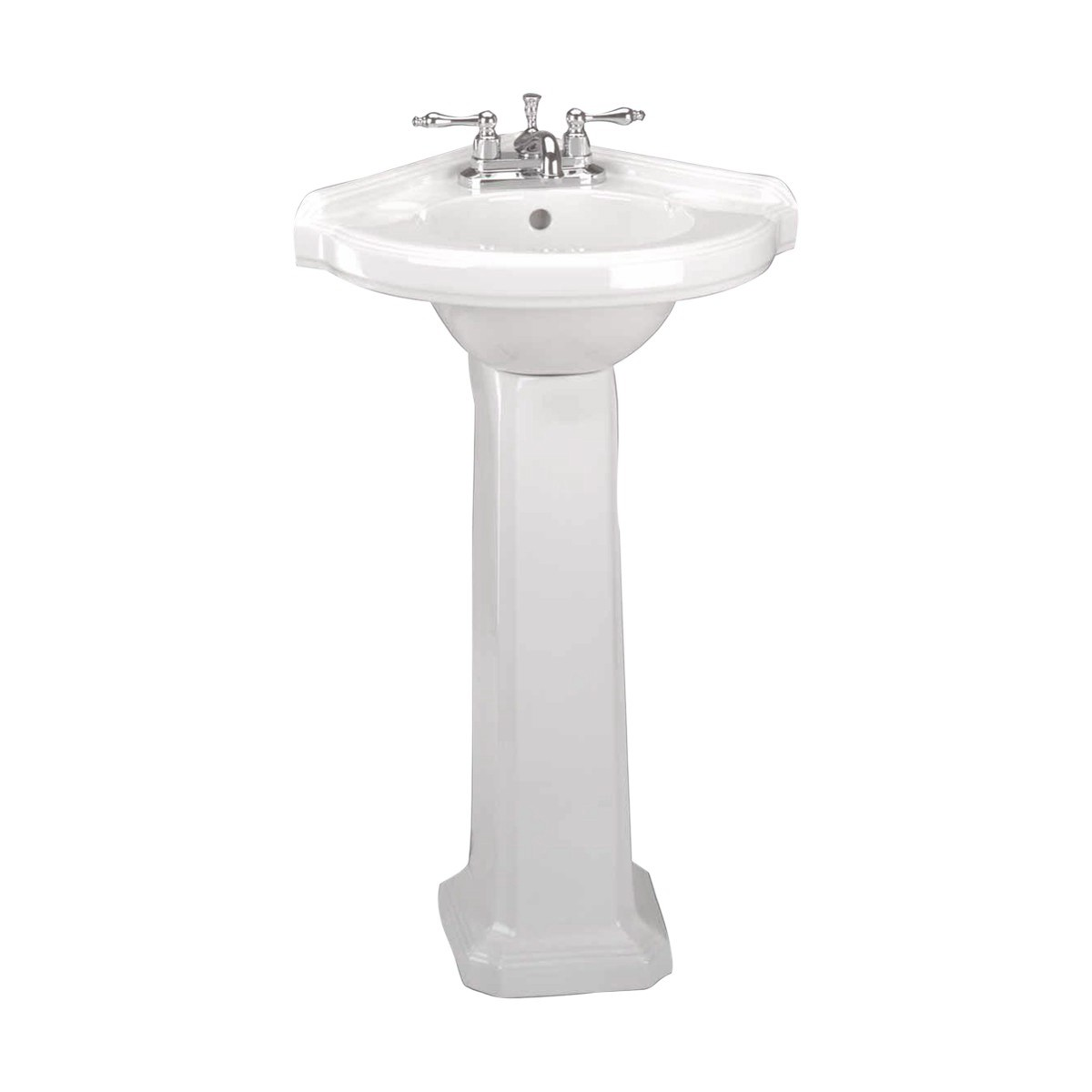 Corner Basin With Pedestal : Corner Pedestal Sink White Pedestal Sink Renovators Supply