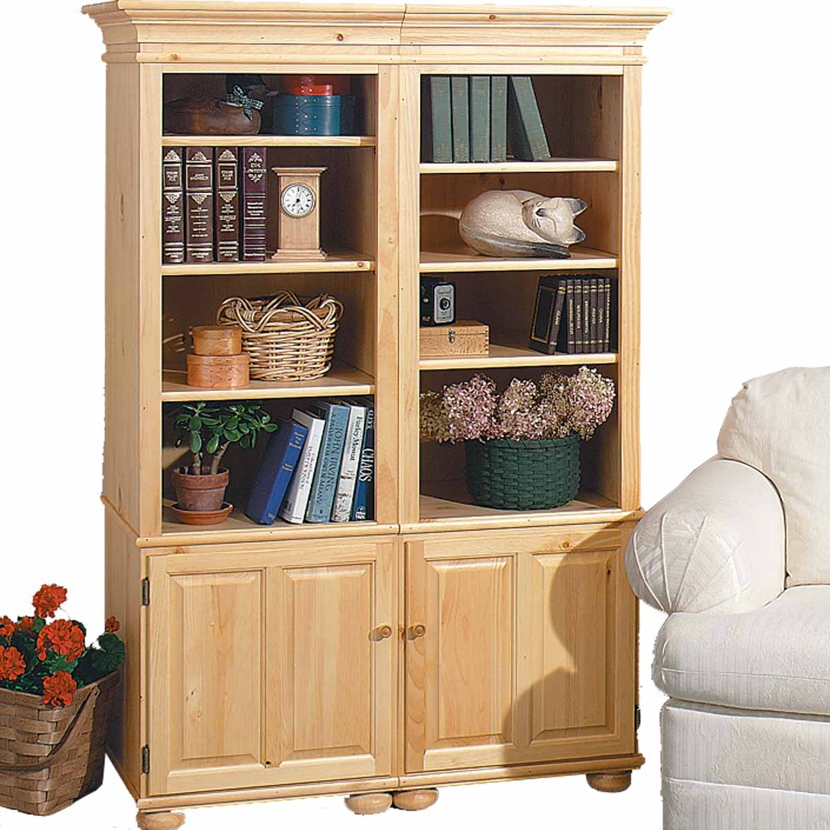 Bookcase Unfinished Pine Wentworth Kit 65 Quot H