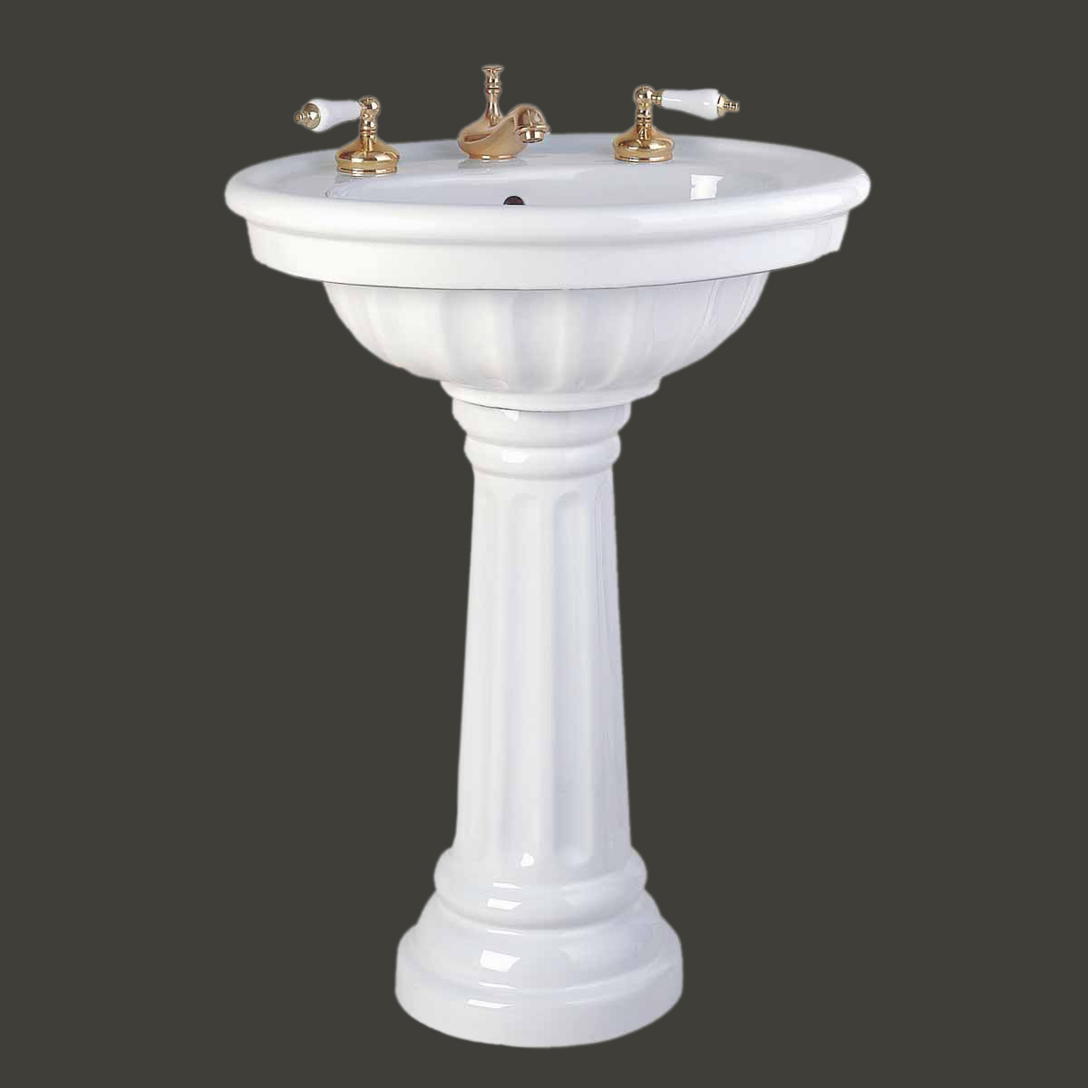 Bathroom Sink With Pedestal : Home Plumbing Pedestal Sinks Medium Pedestal Sinks