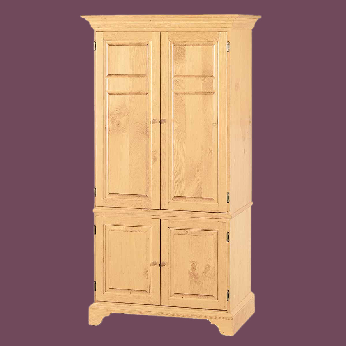 natural solid pine computer armoire kit easy assembly. Black Bedroom Furniture Sets. Home Design Ideas