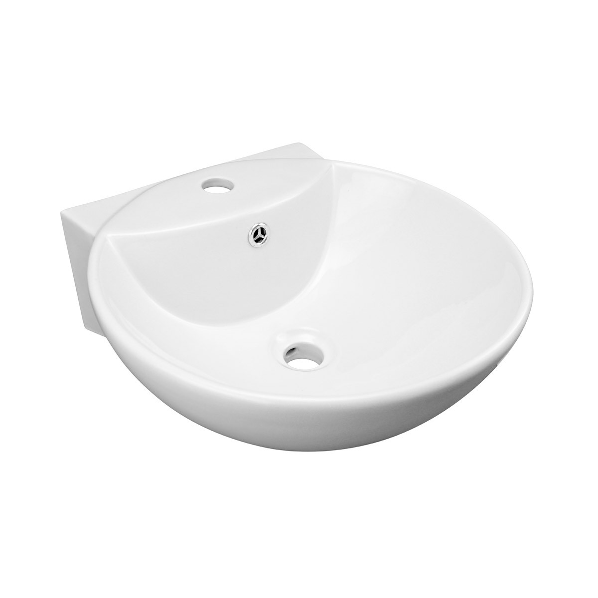Small Bathroom Sink Vessel White China Wall Mount