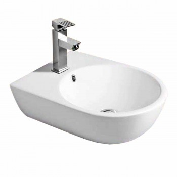 Small Wall Mount Bathroom Sink : Small Wall Mount Bathroom Sink Above Counter Vessel White