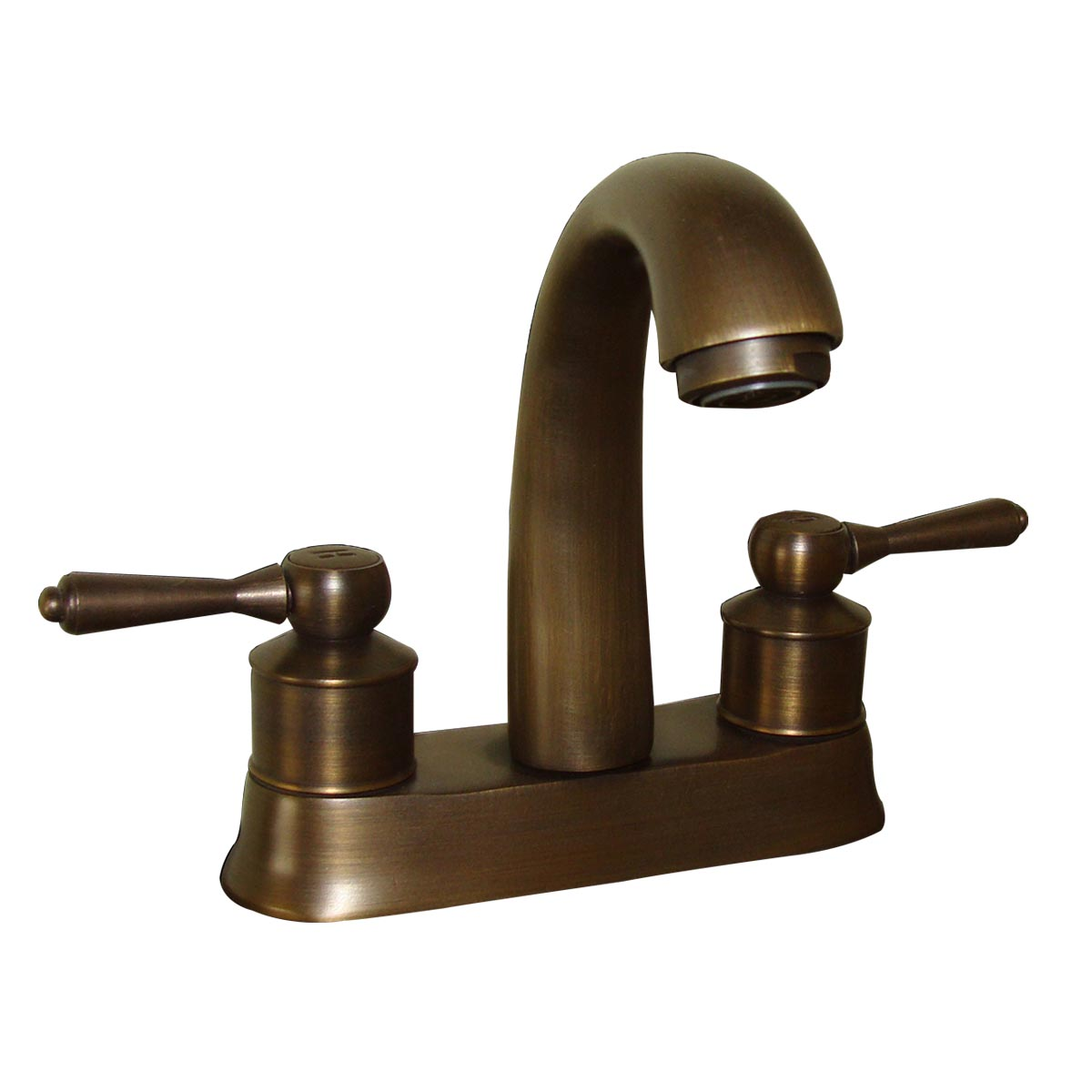 Faucet antique brass classic bathroom sink centerset 2 lever for Bathroom sink faucets