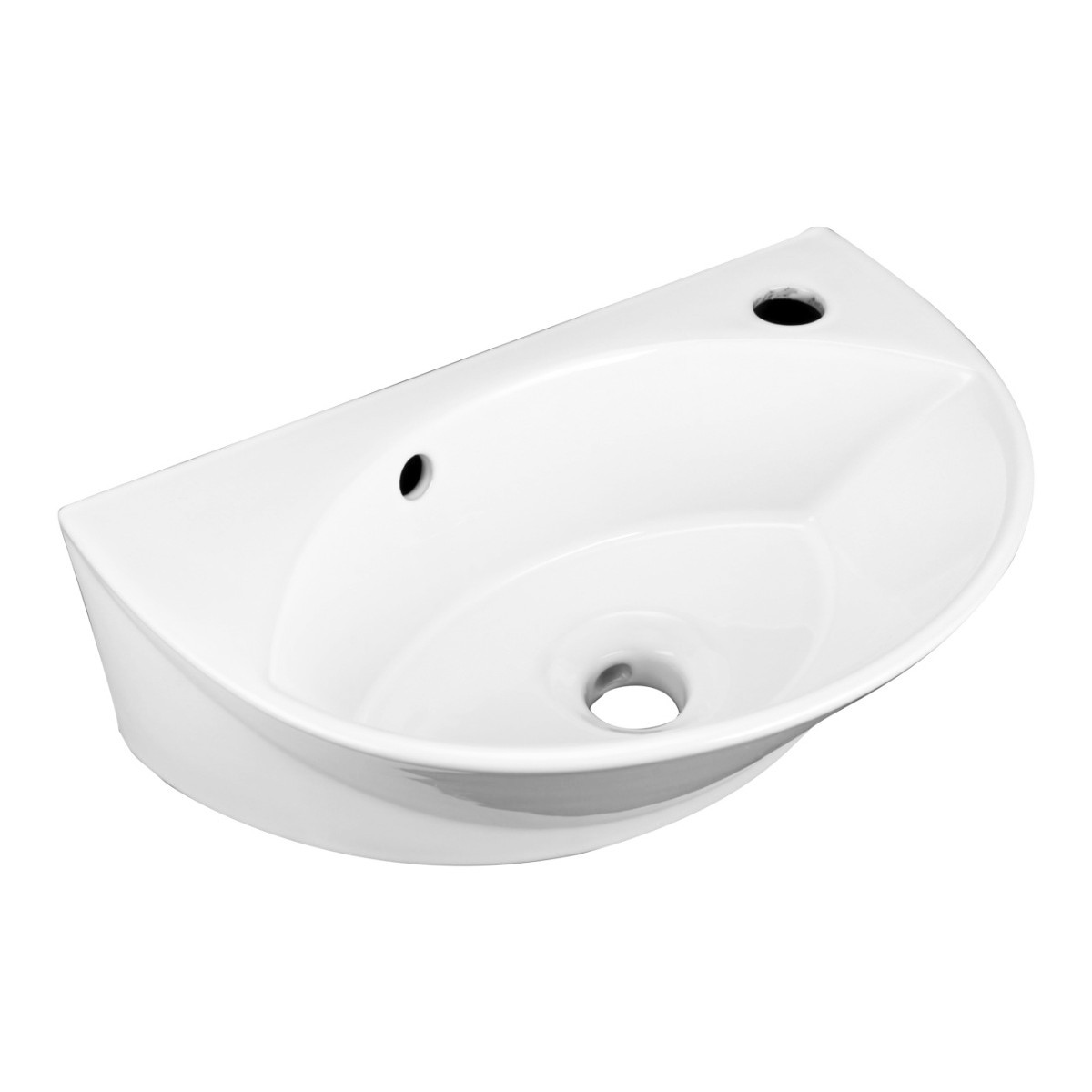 Counter Mounted Sink : Small Above Counter & Wall Mount Sink White Porcelain