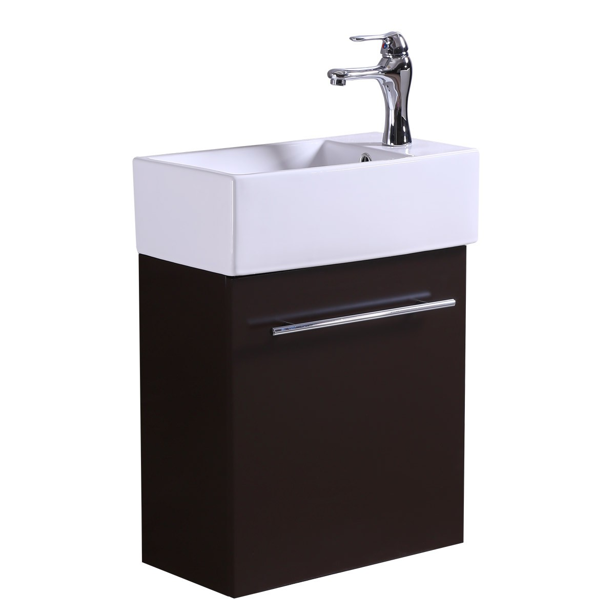 Small Bathroom Sink Cabinet Vanity Faucet Incl Wall Mount
