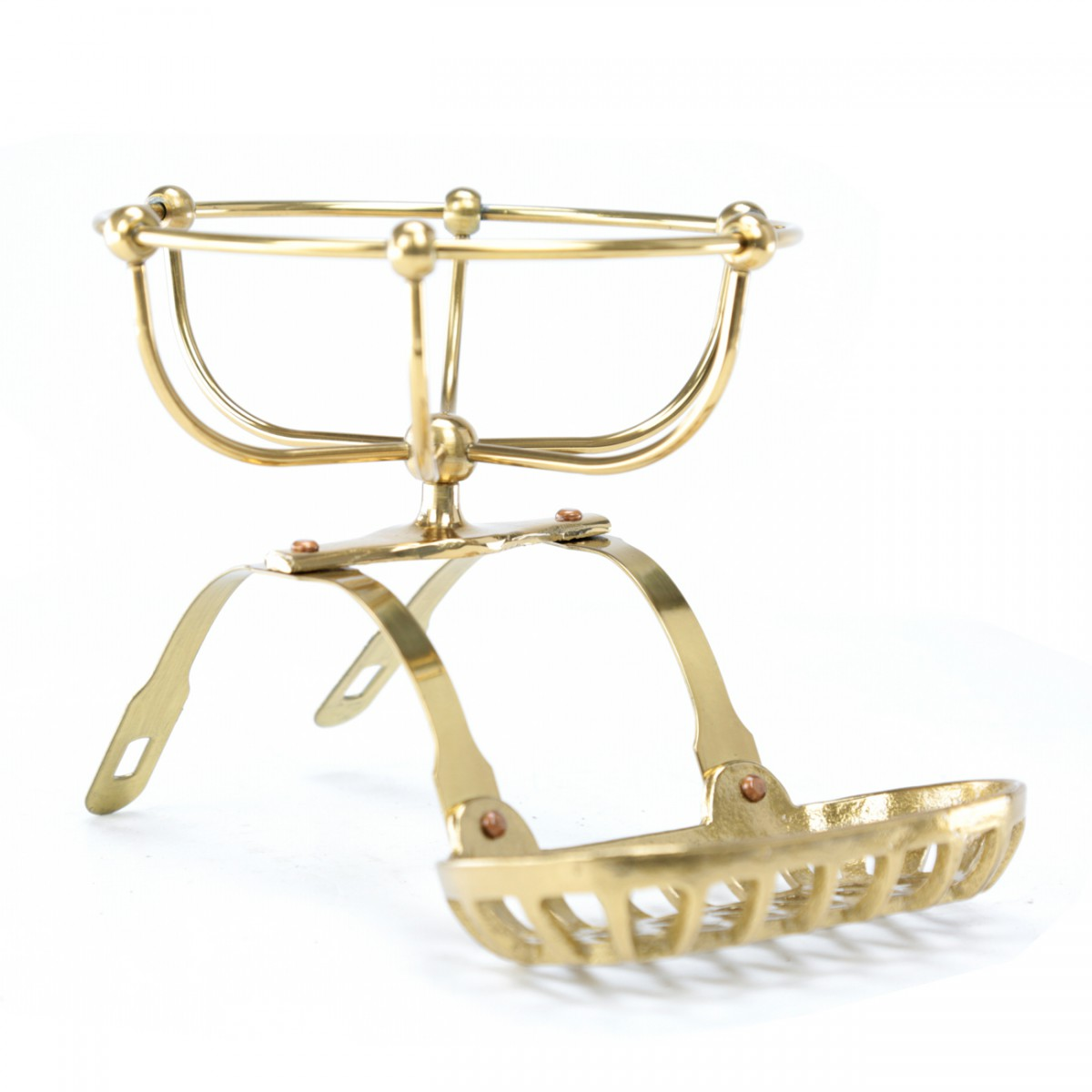 Vintage Clawfoot Tub Soap Dish Sponge Holder Brass