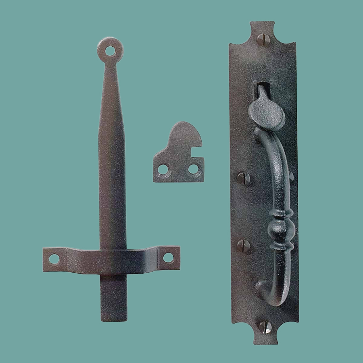Wrought Iron Door Latch Black Quot Colonial Norfolk Quot 8 Quot Tall
