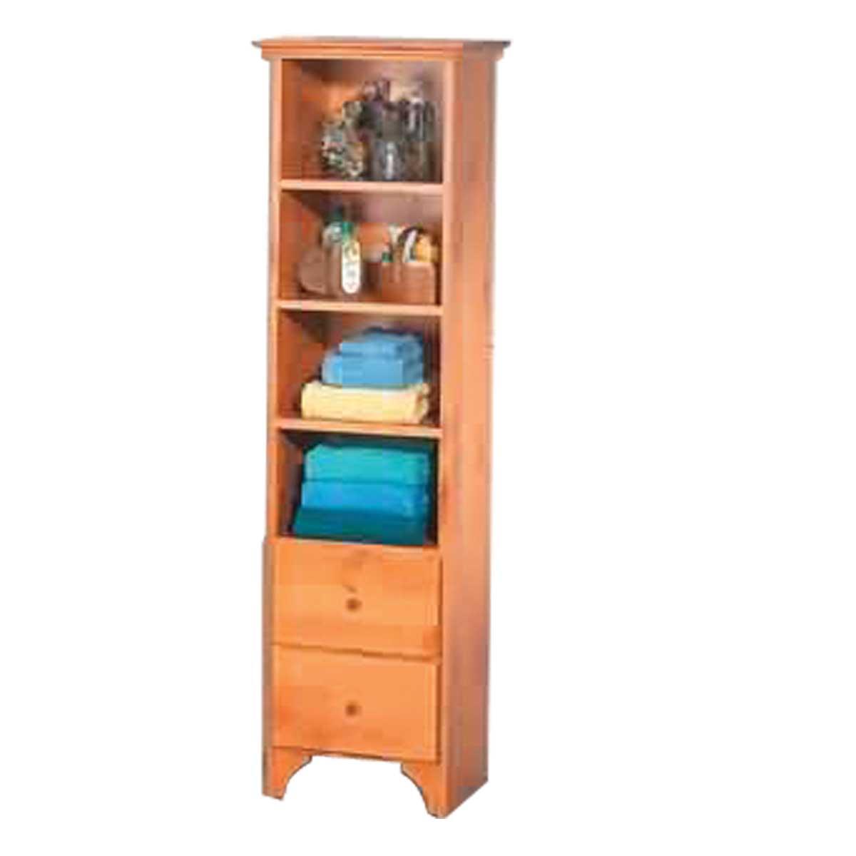 bath tower shelf organizer bathroom heirloom pine